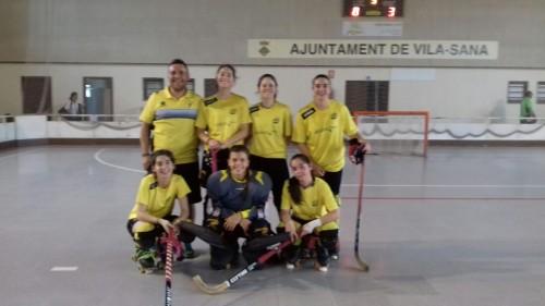 L'equip del Club d'Hoquei Patins Vila-sana, a punt d'ascendir a OK Lliga. FOTO: CH Vila-sana