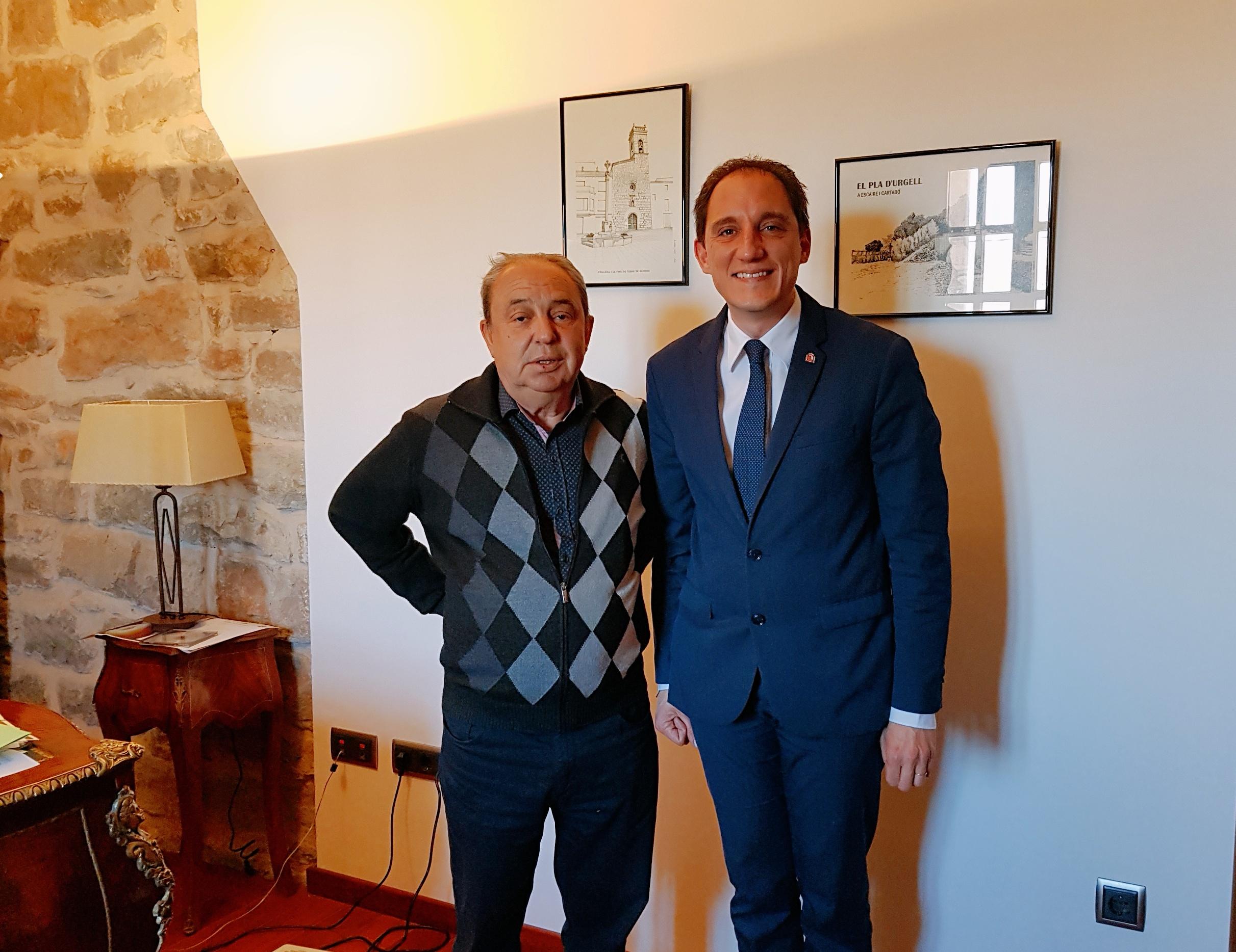 20190226 Subdelegat amb alcalde de Barbens, José Luis Plaza