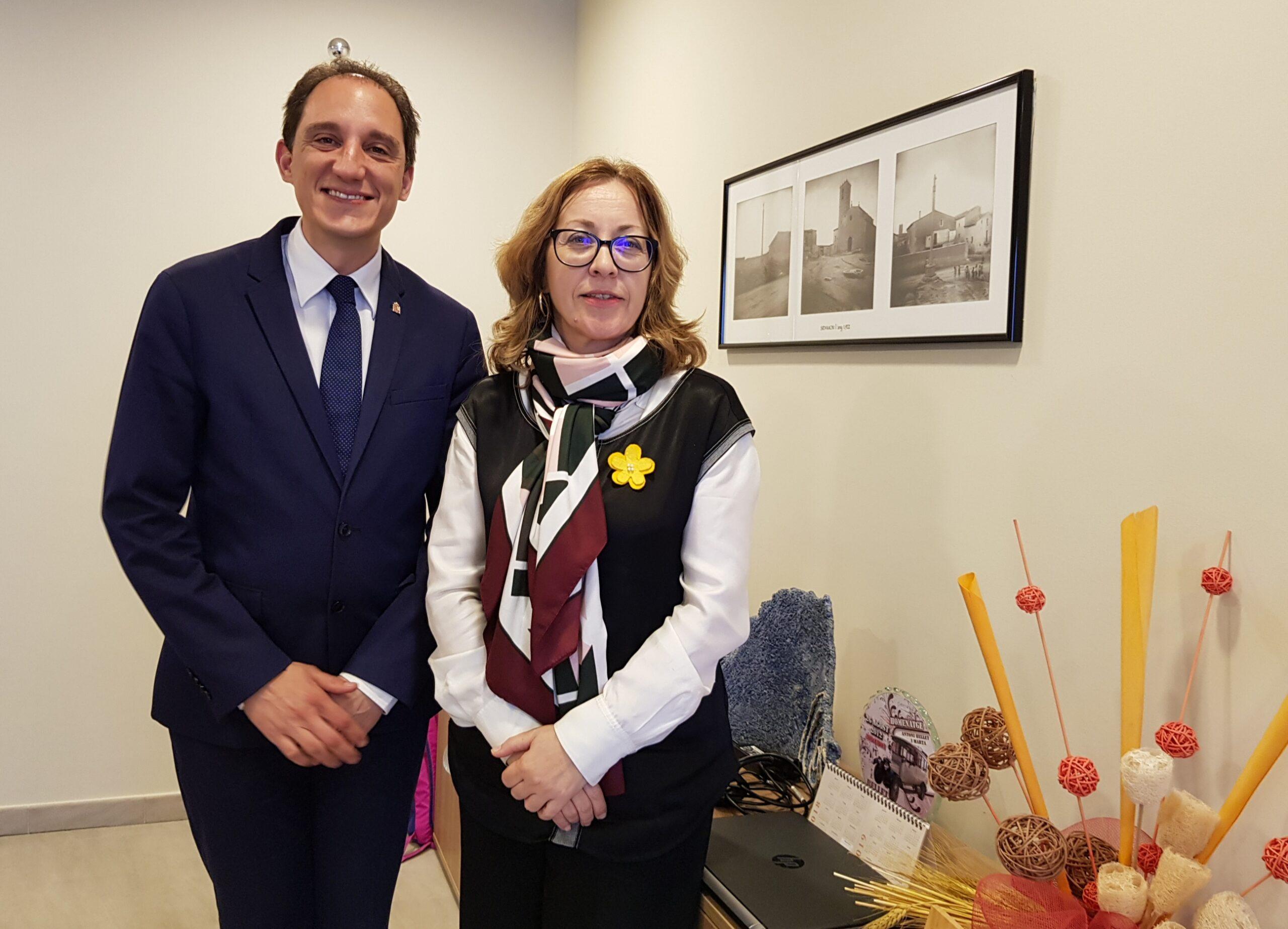 20190226 Subdelegat amb alcaldessa de Sidamon, Maria Dolors Tella