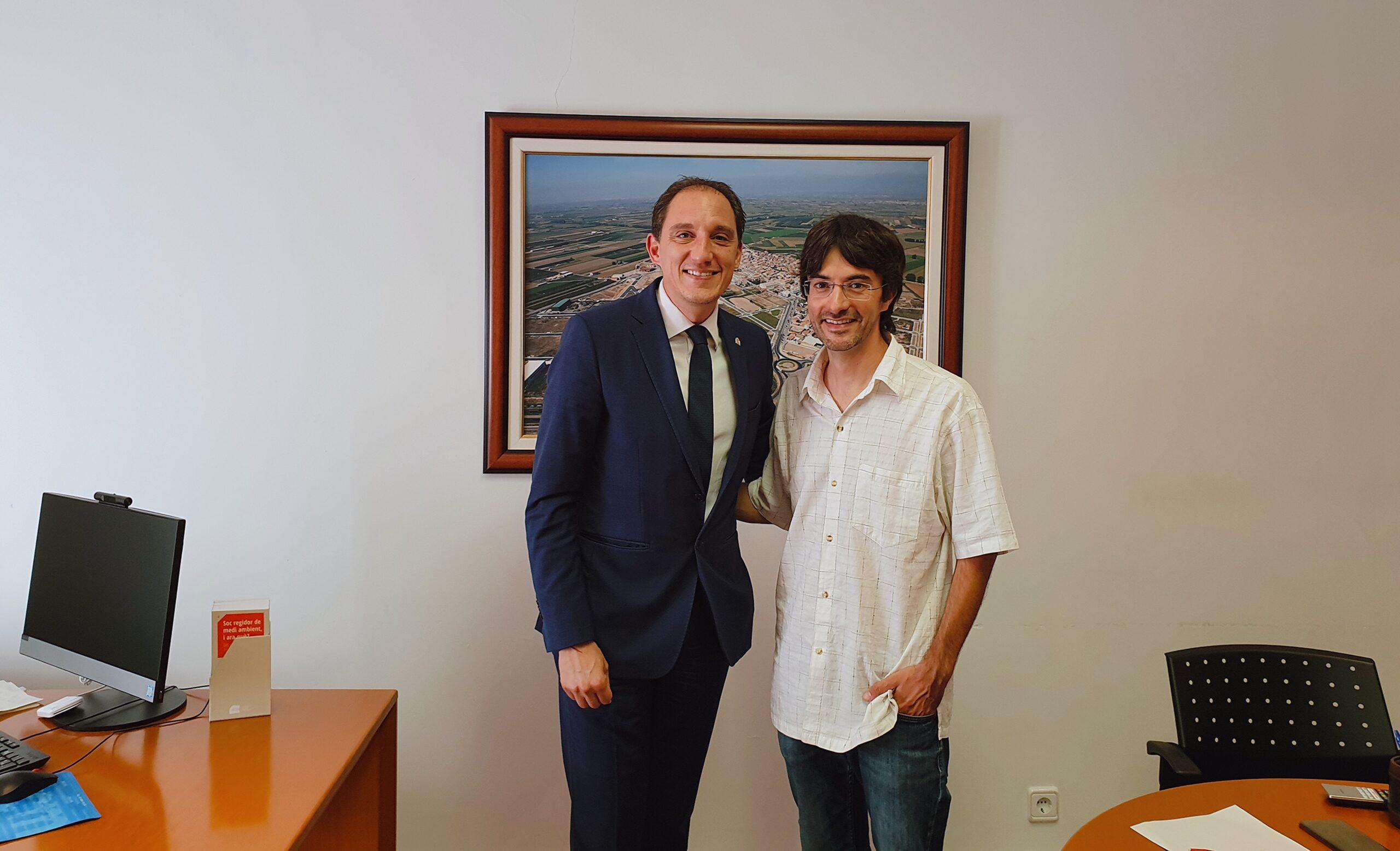 20191008 Subdelegat amb l'alcalde Palau d'Anglesola, Francesc Balcells