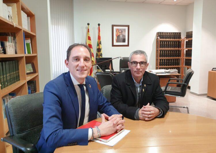 El subdelegat del Govern es reuneix amb el president del Consell Comarcal del Pla d'Urgell