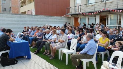 Un instant de la presentació de la novel·la. FOTO: Ajuntament de Mollerussa.