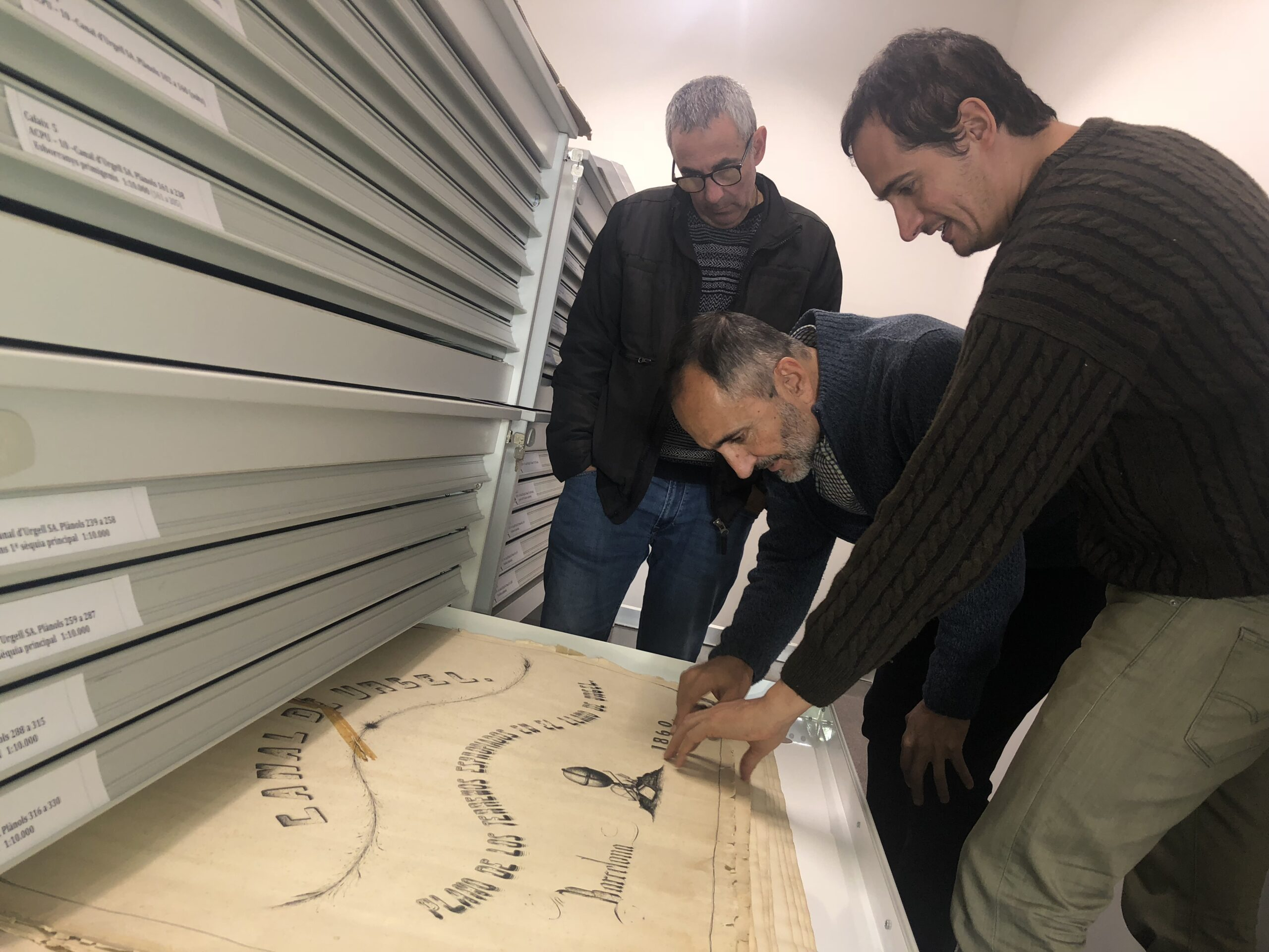 Foto Visita a l'Arxiu Comarcal