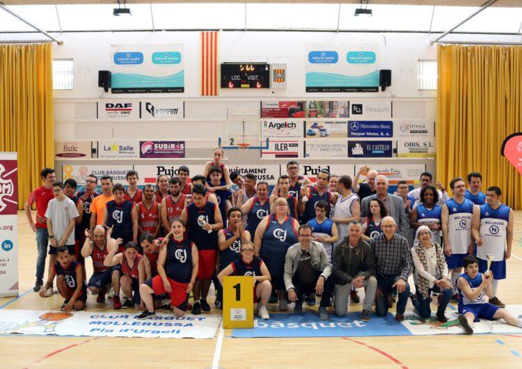 El primer torneig de bàsquet unificat del CB Mollerussa i l'Acudam, tot un èxit