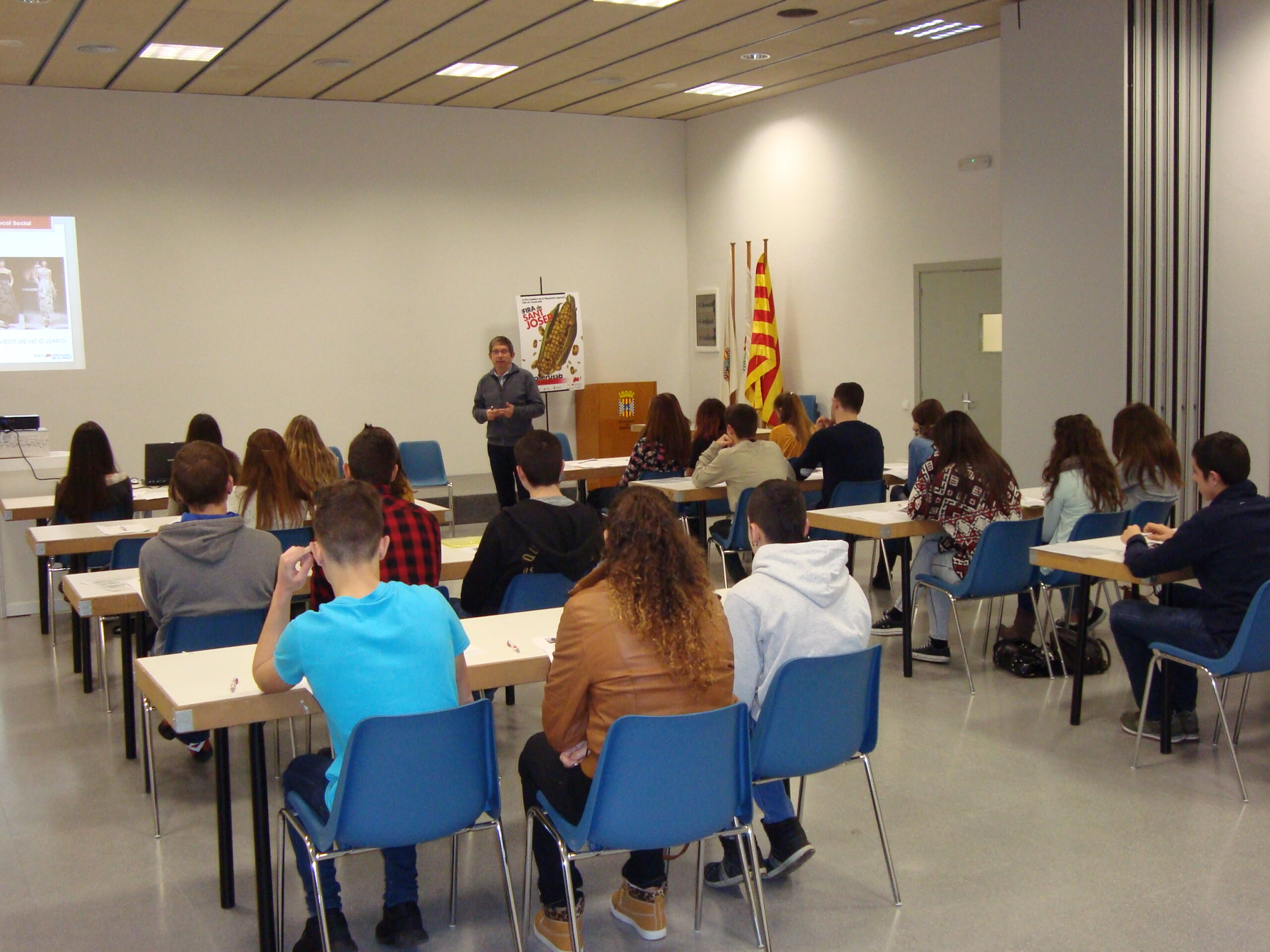 Imatge d'un dels cursos d'auxiliars de fira organitzats per Fira de Mollerussa