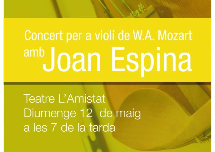 L'Orquestra de Cambra Catalana aterra diumenge al Teatre L'Amistat amb Joan Espina com a solista al violí