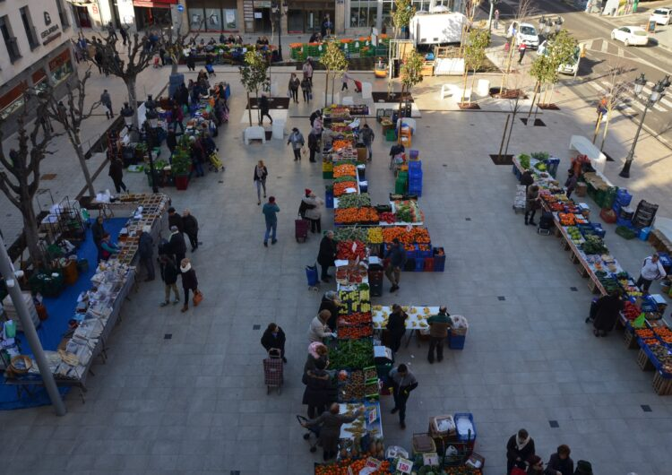 El mercat setmanal de Mollerussa ja torna a ser al centre urbà