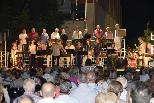 Un instant del concert dels Teclam's. FOTO: Ajuntament de Linyola.