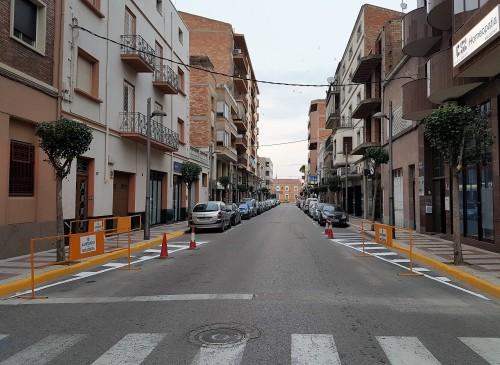 L'entrada a l'Av. Generalitat des de Ferrer i Busquets. FOTO: Ajuntament de Mollerussa.