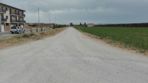 El camí que s'asfaltarà. FOTO: Ajuntament del Palau d'Anglesola.