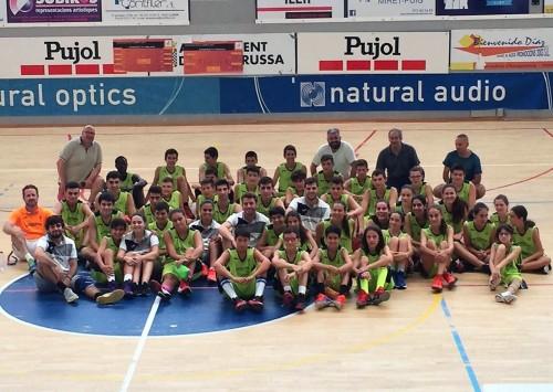 El participants al campus. FOTO: Club Bàsquet Mollerussa.