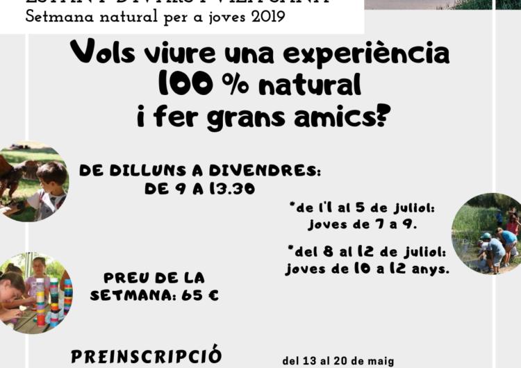 Les preinscipcions per a la Setmana Natural per a Joves de l'Estany, a partir del 13 de maig