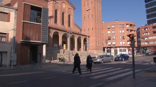 El carrer Ferrer i Busquets de Mollerussa, lloc on s'ha produït l'atropellament. FOTO: Mollerussa TV.
