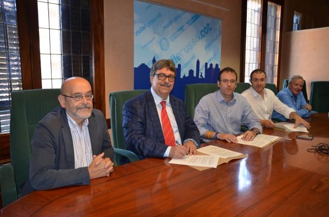 Generalitat, Ajuntament i Mollerussa Comercial col·laboren per potenciar el comerç de la ciutat (Autor: Aj. Mollerussa)