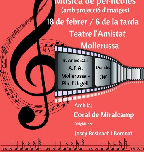 L'Associació de Familiars de Malalts d'Alzheimer compleix un any i ho celebra amb el concert 'Música de Pel·lícules'