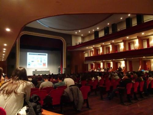Un instant de la conferència. FOTO: CRP Pla d'Urgell.