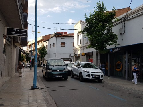 El carrer d'Arbeca, un dels que s'estan estudiant. FOTO: Ajuntament de Mollerussa.