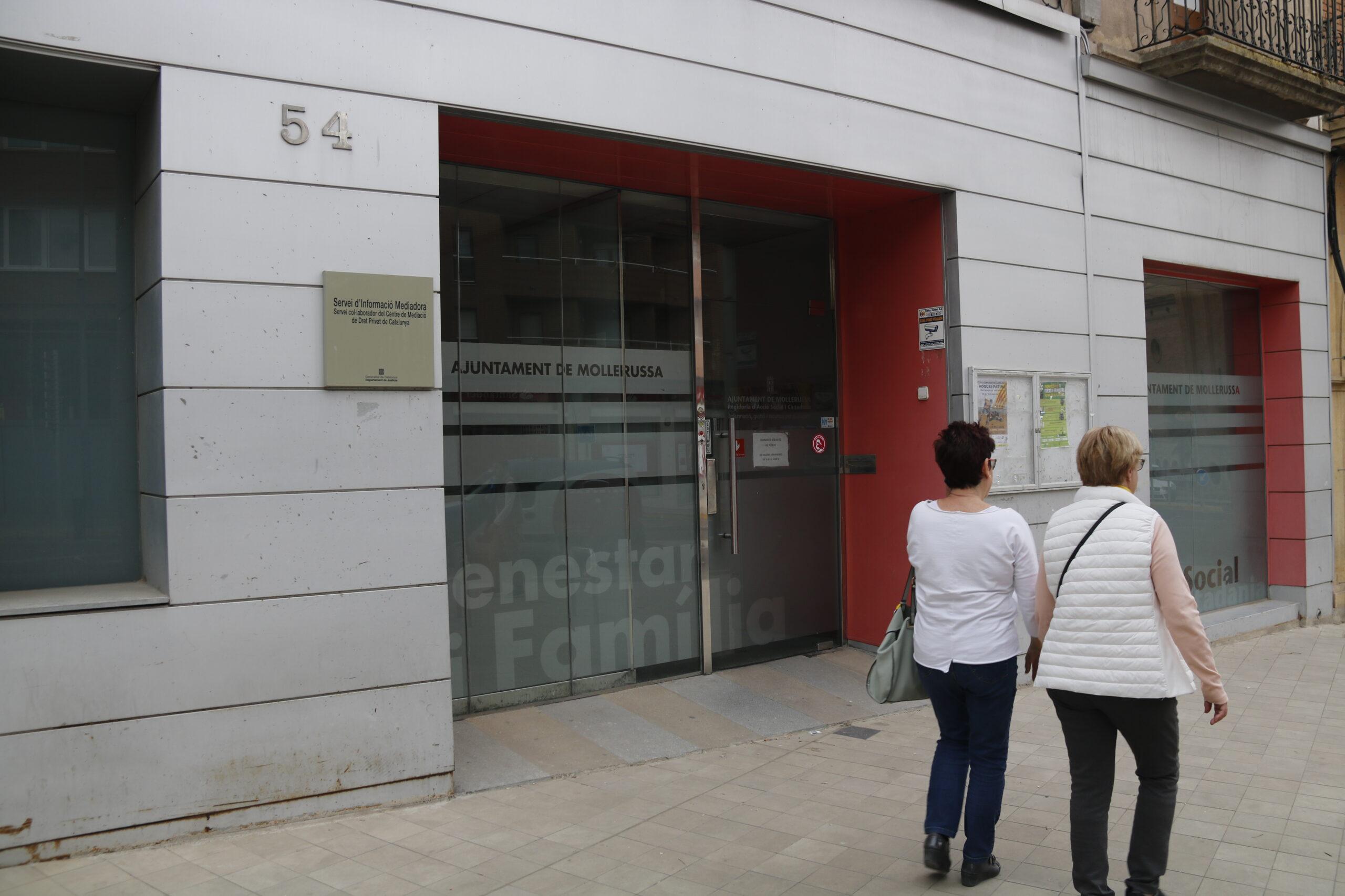 Pla obert on es pot veure la regidoria de Benestar Social i Ciutadania on treballa el tècnic de l'Ajuntament de Mollerussa detingut per corrupció de menors, el 9 de maig de 2019. (Horitzontal)