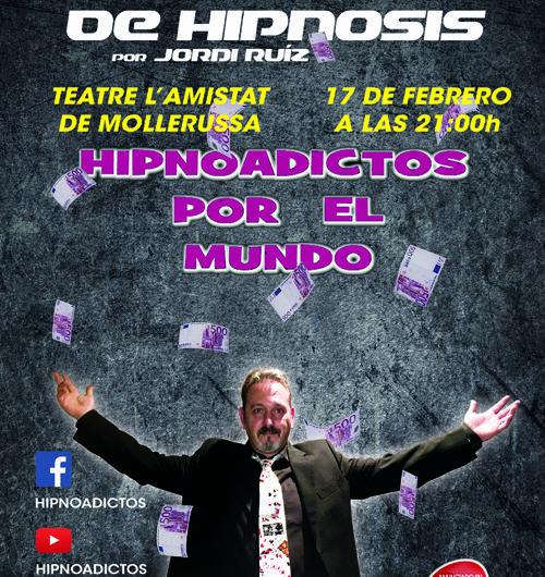 La hipnosi i l'il·lusionisme arriben al Teatre l'Amistat de Mollerussa de la mà de Jordi Ruíz