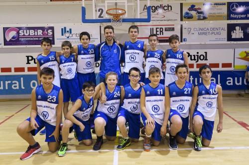 L'equip infantil masculí del CB Mollerussa. FOTO: Ajuntament de Mollerussa.