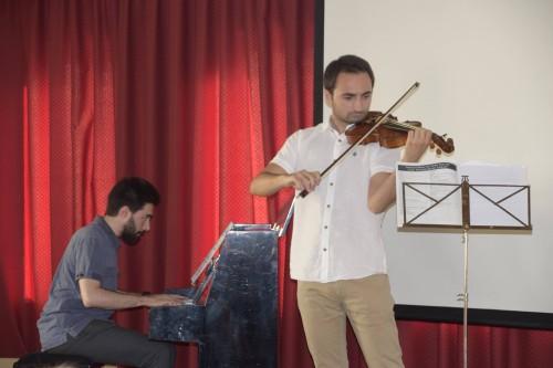 Un instant del concert de l'Escola Municipal de Música de Linyola. FOTO: Juan Ramon Tarragó.