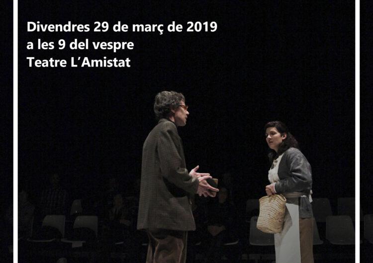 El lliurament del premi del Concurs de Textos Teatrals i l'estrena de l'obra 'Absències', clourà el tercer bloc de Saó de Ponent