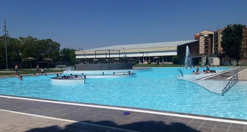 Ambient del primer dia de les piscines d'estiu de Mollerussa. FOTO: Ajuntament de Mollerussa.