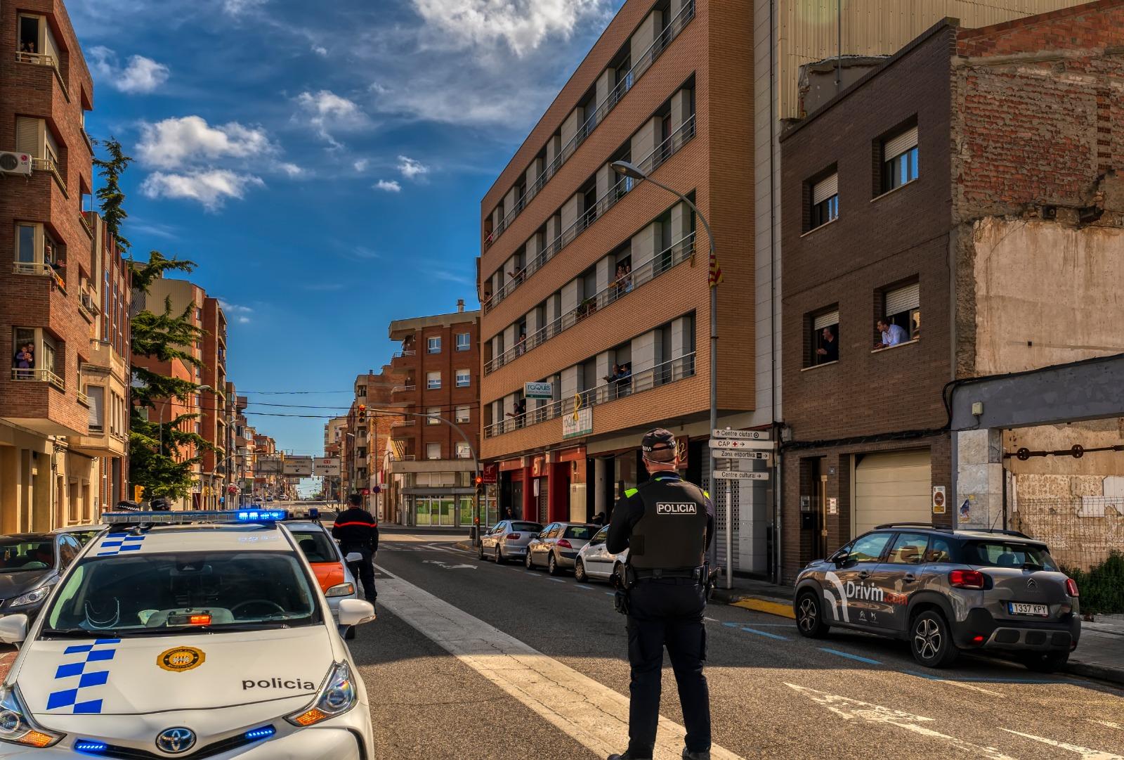 policia al carrer