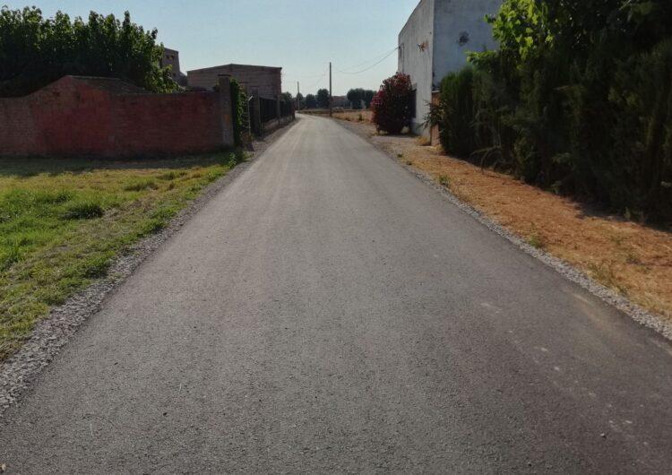Finalitzen les obres de pavimentació dels camins Tàrrega i Molinet del Palau d'Anglesola