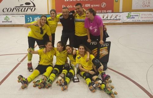 L'equip del CH Vila-sana, que jugarà la propera temporada a l'OK Lliga. FOTO: Ajuntament de Vila-sana.