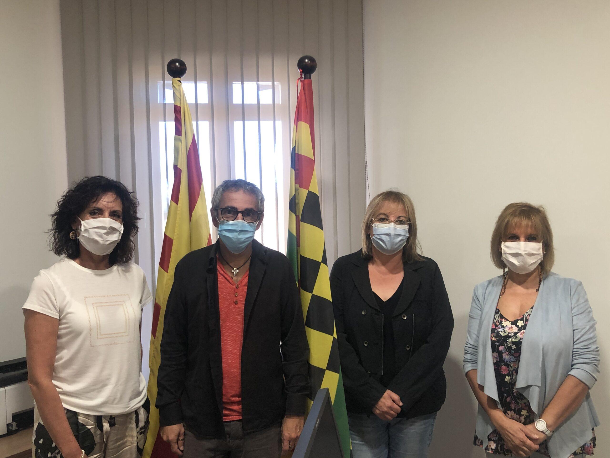 Foto president, amb representants del CRP i de l'Àrea d'Educació del Consell