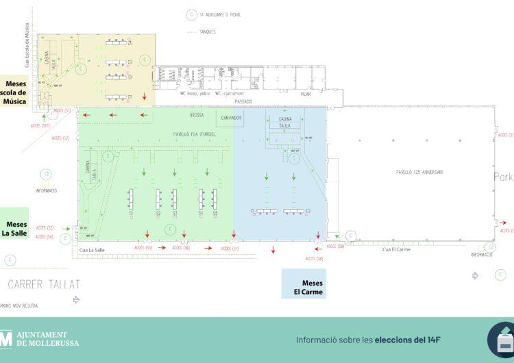 L'Ajuntament concentrarà al Pavelló Firal el dispositiu per a les eleccions del 14F per millorar el control i la seguretat