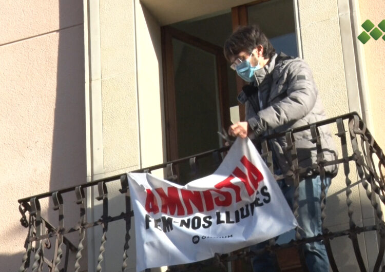 L'ajuntament del Palau d'Anglesola retira la pancarta a favor de l'amnistia arran d'una denúncia