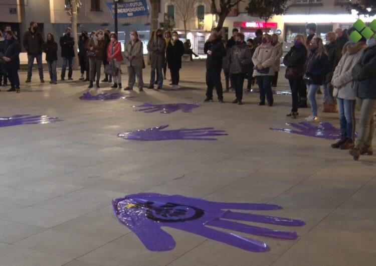 Accions reivindicatives al carrer per commemorar el 8-M en diferents municipis del Pla d'Urgell