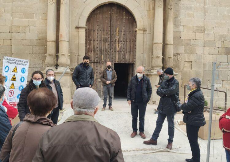 Visites a les obres de l'església del Palau d'Anglesola