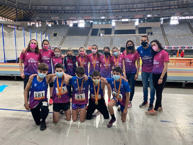 El C.A. Terres de Ponent assoleix un botí de 12 medalles al Català de pista coberta
