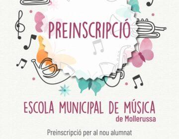 Obert fins el 25 de maig el període de preinscripció a l'Escola Municipal de Música de Mollerussa