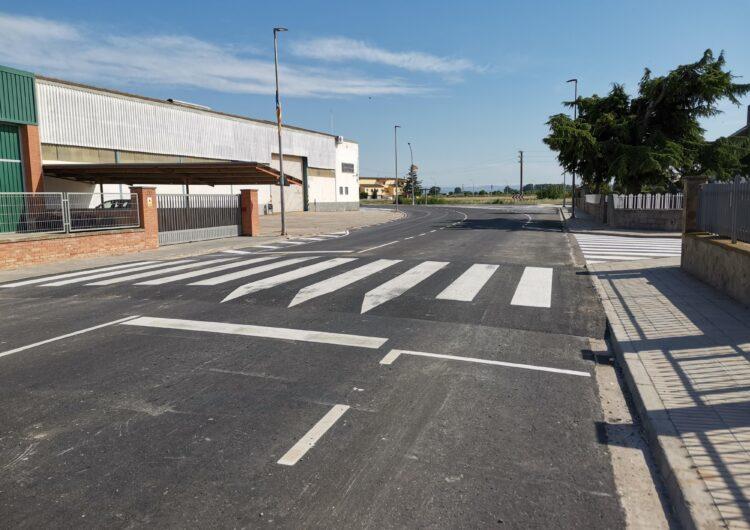 Renovat el paviment de les vies principals d'accés a Vilanova de Bellpuig