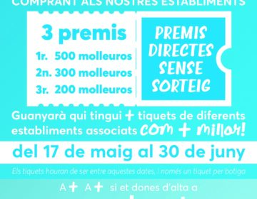 Mollerussa Comercial premiarà els clients que acumulin més tiquets de compra dels diferents establiments associats