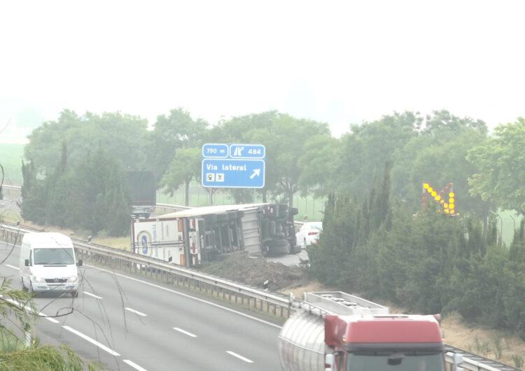 Segon accident en menys de 24 hores a l'A-2 al seu pas pel Pla d'Urgell