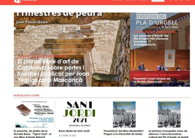 Nova web del Centre de Recerques del Pla d'Urgell Mascançà
