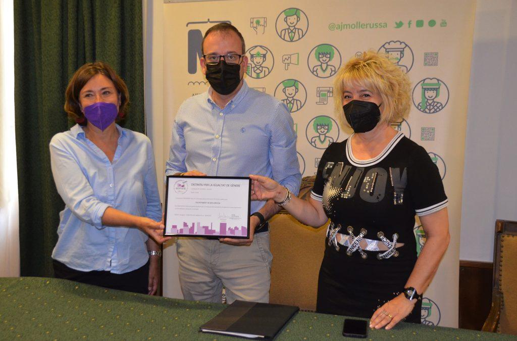 L'ajuntament de Mollerussa rep el distintiu per la Igualtat de Gènere per les seves polítiques municipals