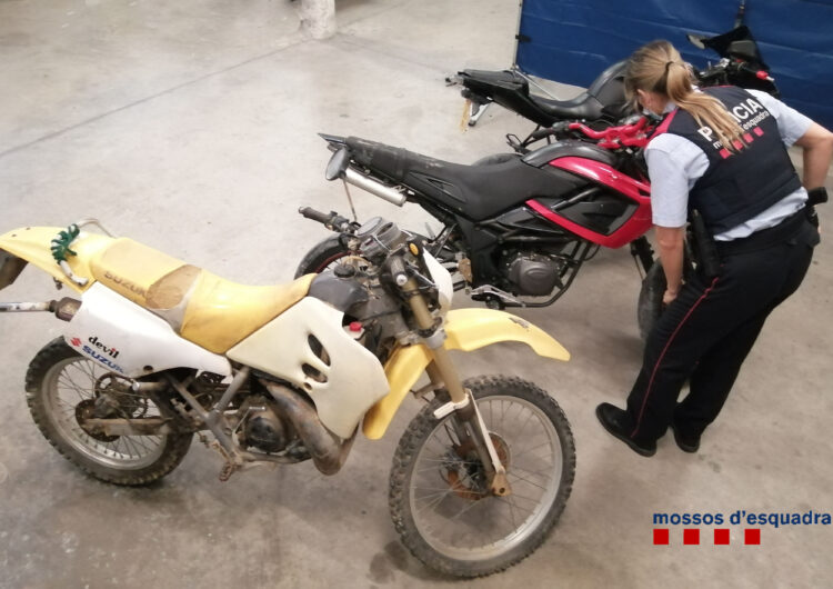 Detingut un jove acusat de robar dues motocicletes a Mollerussa i un ciclomotor a Miralcamp
