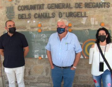 El Sindicat de Comisions Obreres dona suport al Pla de modernització dels Canals d'Urgell