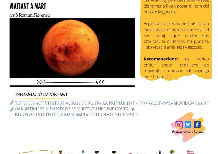 Mart, protagonista de la Nit d'Astronomia a l'Estany d'Ivars i Vila-sana