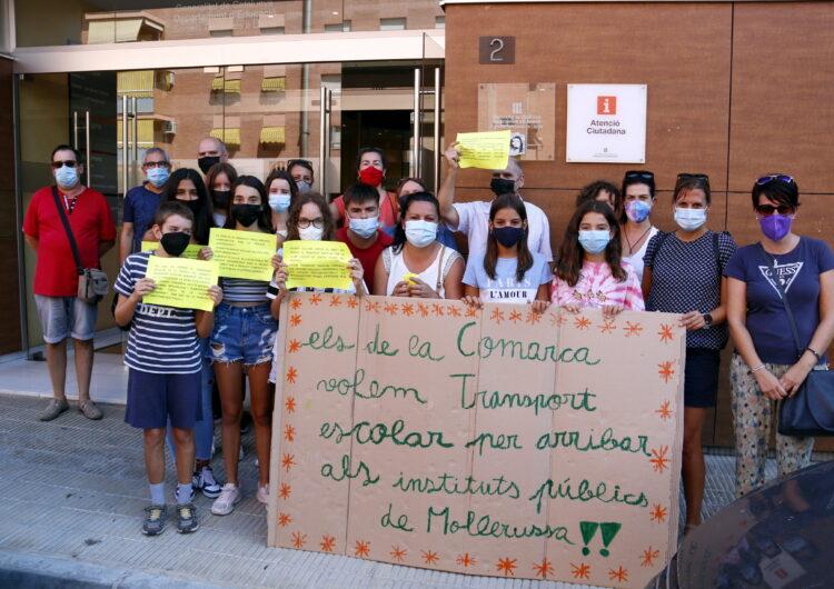Una setantena d'alumnes de Golmés, Vila-sana i Mollerussa reclamen a Educació transport escolar d'ESO i postobligatoris