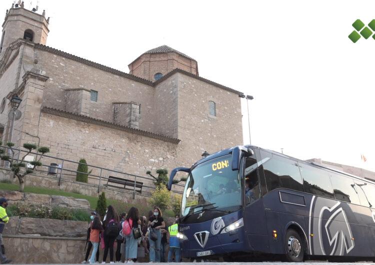 Alumnes de Golmés es beneficien del servei de transport escolar fins a l'Institut La Serra després de les protestes