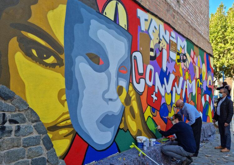 Mollerussa celebra el Dia Mundial de la Salut Mental amb un mural urbà inclusiu per trencar estigmes